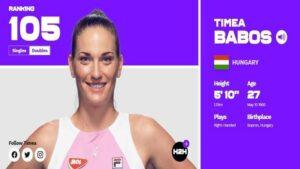 профиль Тимеа Бабош на WTA